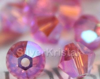 Promotion Item - 144pcs Swarovski Elements - Swarovski Crystal Beads 5328 4mm Xillion Beads - Rose AB2X