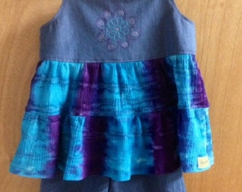 Summer Top and Shorts, girls size 8