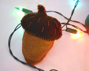 Felt Acorn Plushie Ornament