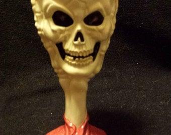 Renaissance Goblet, Skeleton Goblet, Skull Goblet, Skull in Hand, Skull Cup, Halloween Goblet, Halloween Cup, Goth Goblet, Finished Ceramic