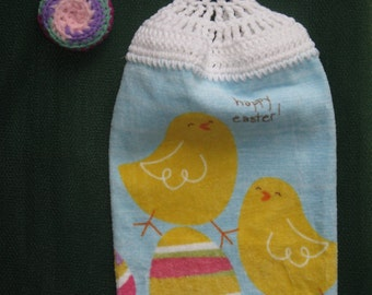 Easter Kitchen Towel and Dish Scrubber, Scrubby, Pot Scrubbies