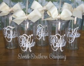 1 Personalized 20 oz. Bride and Bridesmaid Acrylic Tumblers