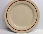 Vintage Dinner Plate Vitrified Jac Tan China Made in USA  9 inch