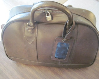 Leather Duffle Travel Luggage Bag Vintage #121714