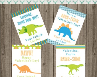 Printable Dinosaur Valentine Cards