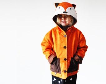 fox dress up coat jacket in orange