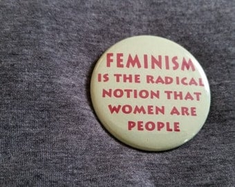 Feminism Women's Rights Pinback Button 2.25""