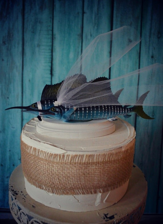 Marlinweddingcake toppersport
