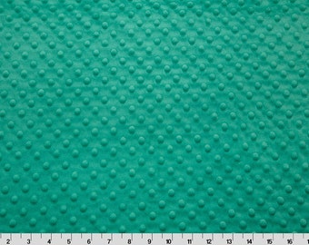 1.5 Yards of Seafoam Dimple Minky From Shannon Fabrics
