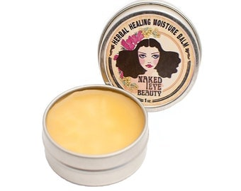 Organic Healing Balm Natural Vegan Salve 1 oz. Argan Oil Coconut Oil