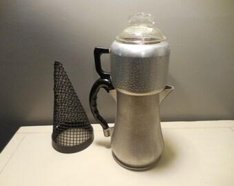 Vintage Guardian Aluminum Drip Coffee Pot