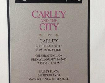 New York themed Invitation