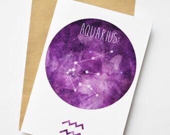 Aquarius/  Astrology / Zodiac Greeting Card