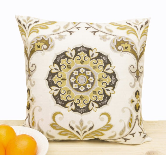 White Brown Yellow Gold Decorative Pillow Cover Pillowcase