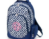 Monogrammed Greek Key Bookbag - Monogrammed Backpack - Back to School  - Other Styles Available