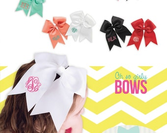 Large Monogrammed Hairbows - All Colors Available - Preppy Hairbow