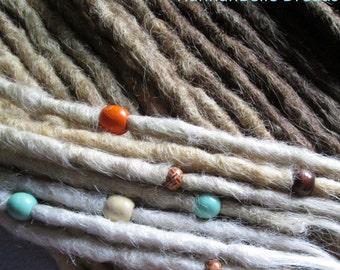 CUSTOM medium crochet synthetic dreadlock extensions - natural look, single ended, 60 pieces.