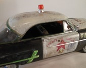 Scale Model, Rusted RatRod ,Police Car, Black and White, Classicwrecks