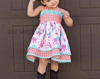 Katy's Double Layer Ruffle Bodice Dress PDF Pattern size Newborn to 18/24 months