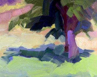 Where Your Glory Dwells 41  Willistown  Preserve Trees  Plein Air Original Oil Painting