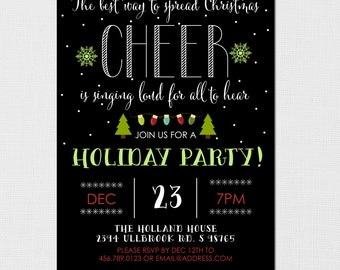 Christmas Party Invitation - Holiday Party Invitation - Best way to spread Christmas Cheer - Christmas Party - Holiday Party - Printable