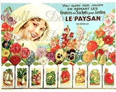 Le Paysan Vintage French Seed Catalog Ad Digital Image Download No. 013
