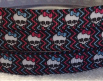 3/8 Skulls Ribbon- 3 Yards