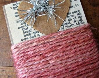 3 Yards Rustic Cameo Pink Jute Twine Ribbon