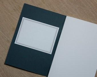 Grey Bordered Letterpress Labels