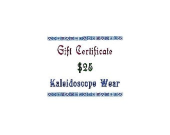Gift Certificate for Kaleidoscope Wear