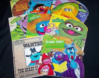 Vintage Sesame Street Book Bundle - 8 Golden Shape books - 1970s-1990s
