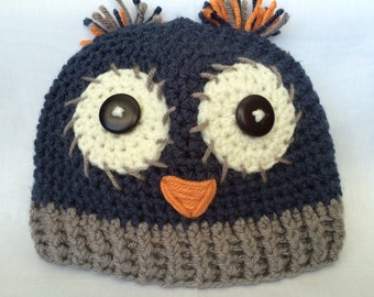 Dark Blue Owl Hat