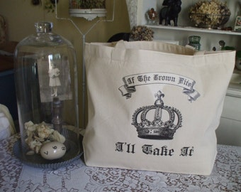 Messenger Style Canvas Tote Bag