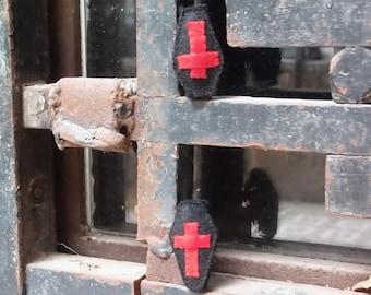 Black Coffin brooch