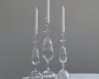 Kampaï! Candleholder made from upcylcled glassware