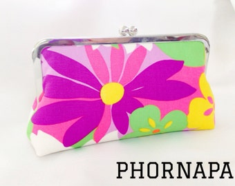 CLEARANCE Colorful Flower Clutch Ready to Ship