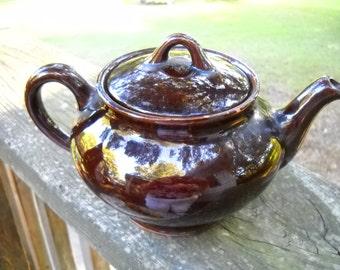 Teapot , Royal Canadian Art Pottery, Hamilton, Dripless Teapot