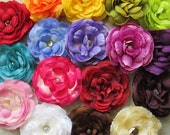 Silk Ranunculus Hair Flower Clip & Pin - 18 Color Choices!