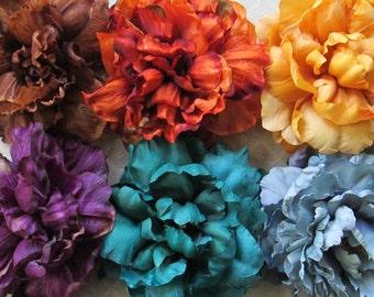 Mega Peony Hair Flower Clip & Pin - 6 Color Choices!