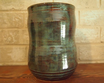 Large Crock/Planter - Earthy Browns & Blues
