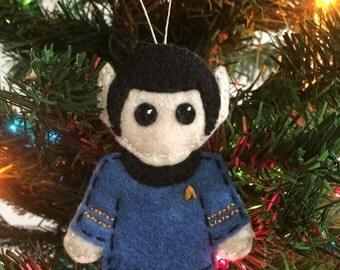 TOS Star Trek Spock Felt Ornament