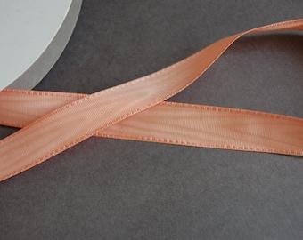 """1/2"""" Peach Moire Ribbon"""