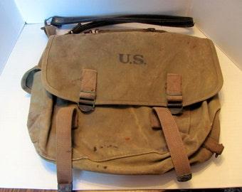 WW II US Army Musette Shoulder Bag