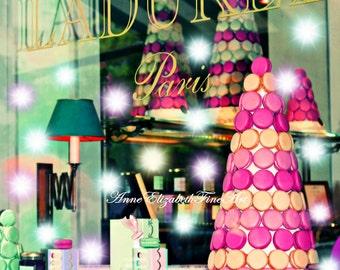 Macaron,Macarons,Macaroons,Laduree,Food  Photography,Mint Green,Fashion,Kitchen Art,Pastel, Pink Print,Sweets,Bakery, Pastry,Bedroom,Nursery