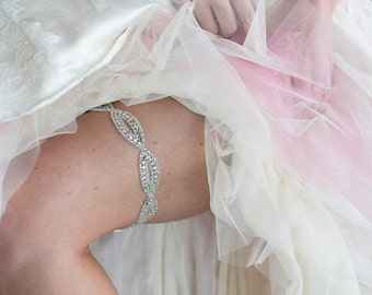 Crystal Bridal Garter, Fancy Rhinestone wedding garter