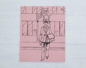vintage french flash card - postman