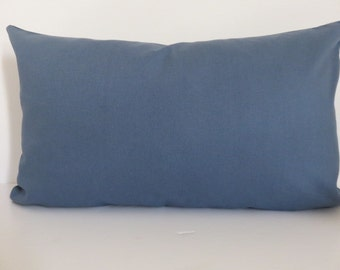 12x20 Pillow Cover-Solid Blue Pillow Covers- Decorative Pillows- Accent Pillows- Home Decor