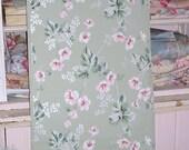 Vintage Wallpaper Pink Florals 1930s Jadeite Background Journals Crafts Furniture Yardage