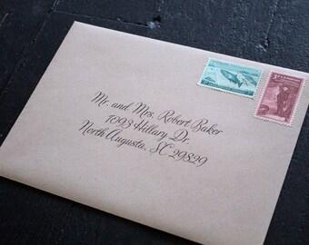 Envelope printing, custom envelope printing, envelope addressing, wedding envelope, calligraphy envelope, wedding invitation envelope