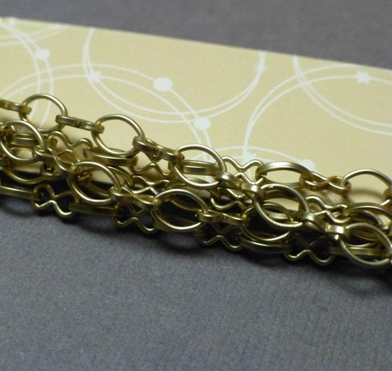 sale goldtone matt finish chain bead landing oval by